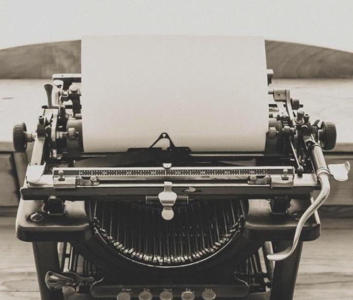 מכונת כתיבה ישנה של פעם
