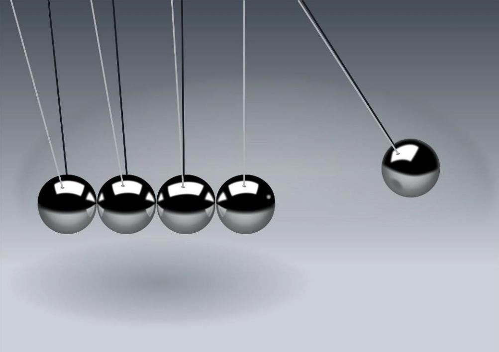 משחק פיזיקלי של כדורים מתכתיים הקשורים בשורה